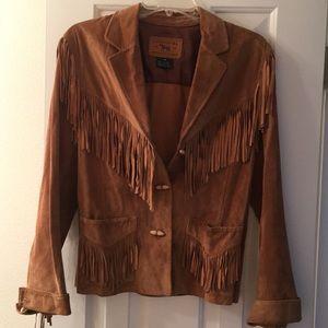 Vintage Ralph Lauren Suede Fringe Jacket Sz M